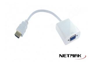 Netmak Conversor Hdmi A Vga Nm-c81a Con Sonido Cuotas