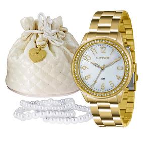 Kit Relógio Lince Feminino - Lrg4375l K180