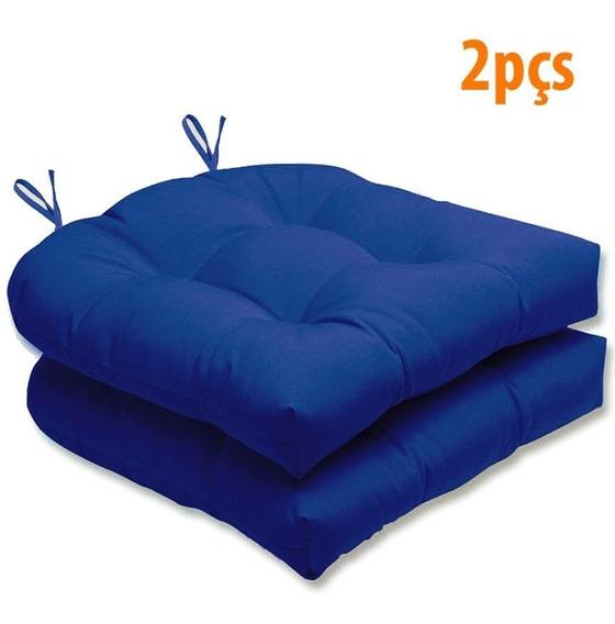 Assento Para Cadeira Futton Solid Liso 40x40cm 2pçs - Ecaza