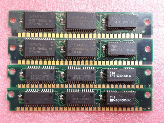 4x Memória Ram 4mb Simm 30 Pinos (1992) 386dx 386sx 486dx