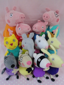 Familia Peppa Pig Com Vovô E Vovó E 8 Amiguinhos