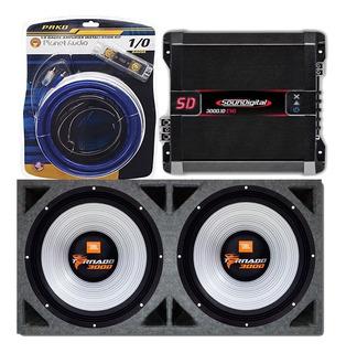 Subwoofer Jbl Tornado 18 3000 X2 + Soundigital Sd3000 Caja