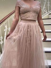 Vestido Color Rosa Palo