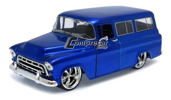 Miniatura Chevy Suburban 1957 Azul Jada Toys 1/24