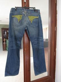 Autentico Jeans Robin`s Jeans T/42 Pedreria Swarovsky Nuevo