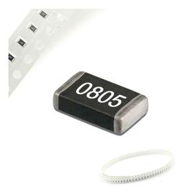 100 Peças Resistor 0805 Smd 1/4w 5% Escolha Os Valores