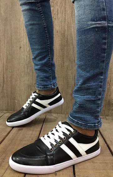 Zapatos Zapatillas De Hombre Ecocuero Talle 39-45 Negro A730