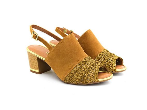 Sandália Dakota Caramelo/dourado B8201 Original