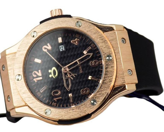 Relógio Masculino Orizom Quartz Analógico Aço Dourado