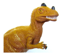 Dinosaurio Goma N25 Ceratosaurus Grande Dinos Juguetes