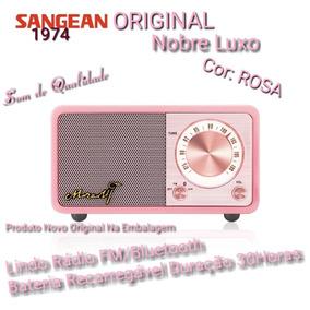 Rádio Mozart Sangean Original Retrô Luxo Rosa Fm Bluetooth