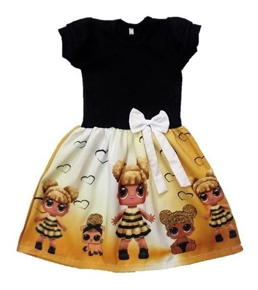 Vestido Infantil Lol Queen Bee Manga Curta - Roupa/fantasia