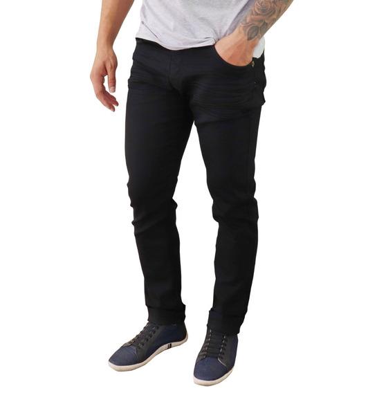 Kit 3 Peças Calça Masculina Jeans Sarja Slim Skinny C Lycra