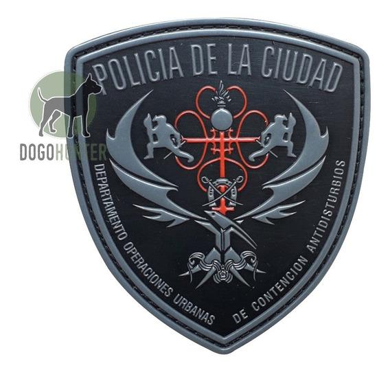 Escudo De Goma Pvc Policia De La Ciudad Douca