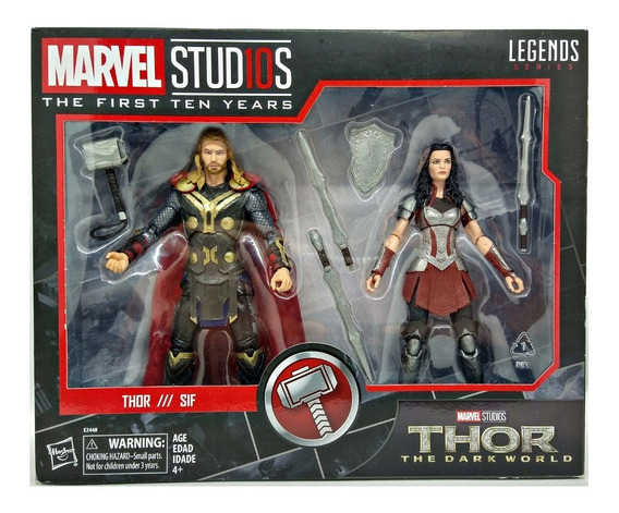 Thor Y Sif Paquete 2 Figuras Marvel Legends Marvel Studios