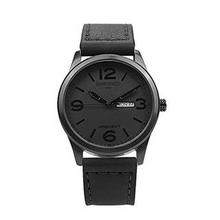 Chronos Quartz Leather Reloj De Pulsera Impermeable Clasico