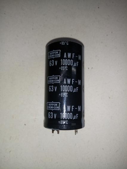 Capacitor Electrolitico Blindado 10000uf 63v 85° 1 Unidad.