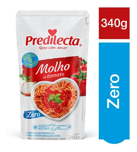 Molho De Tomate Zero 340g Predilecta