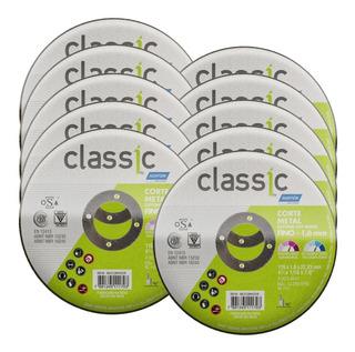 Kit Discos De Corte P/ Aço E Inox 10 Peças Norton