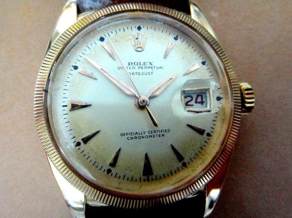 Relógio Rolex Oyster Perpetual Datejust Automático De Ouro