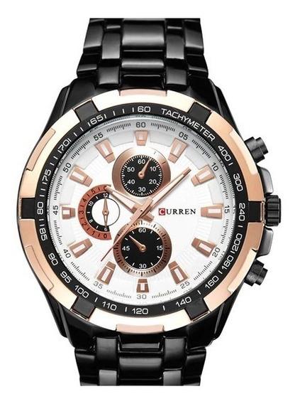 Relógio Masculino Curren Luxo Original Modelo Exclusivo