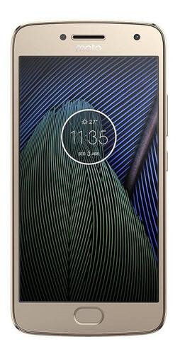 Imagem 1 de 4 de Motorola Moto G5 Plus 32gb Ouro Excelente Usado Seminovo