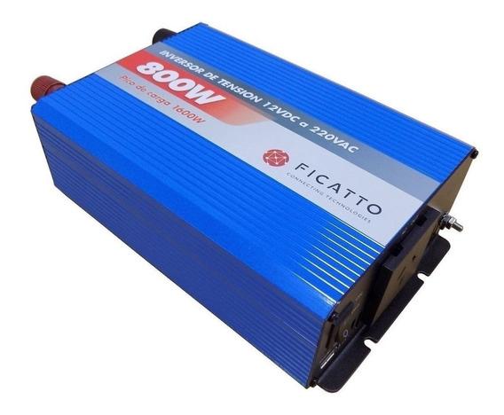 Inversor De Tensión 800w Ficatto 12v Auto Fi800 Usb