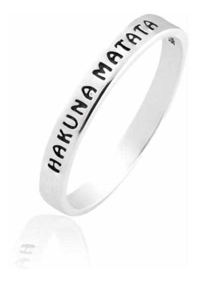 Aliança De Prata Hakuna Matata