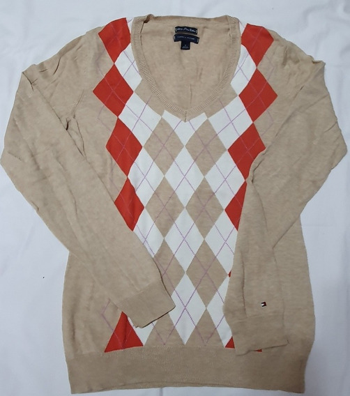 Sweater Tommy Hilfiger Mujer Con Rombo- Original - Impecable