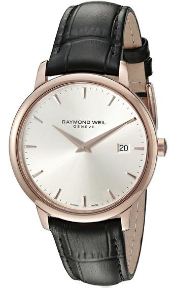 Reloj Analógico De Cuarzo Negro 5488-pc5-65001 De Raymond