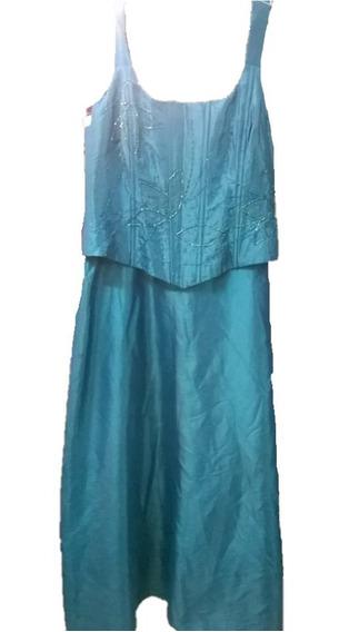 Vestidos De Fiesta - Corset Bordado Y Falda - Talle L