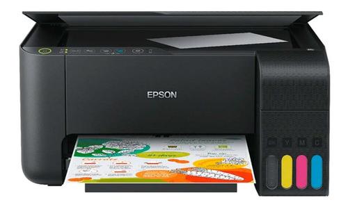 Impressora a cor Epson EcoTank L3150 com wifi preta 110V/220V