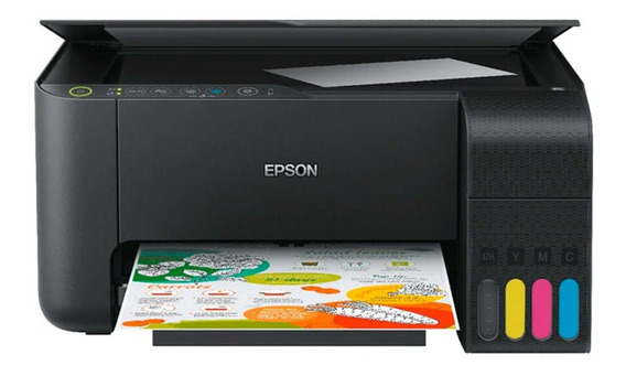 Impressora a cor multifuncional Epson EcoTank L3150 com Wi-Fi 110V preta