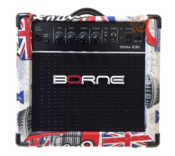 Caixa Amplificador Cubo Guitarra Borne Strike G30 - London