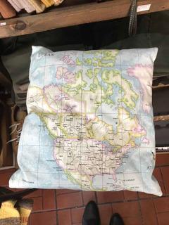 Almohadones Planisferio Mapa América Del Norte