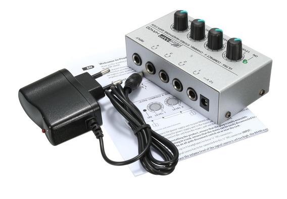 Amplificador Fone Ouvido Ha400 4 Canais Mini Audio