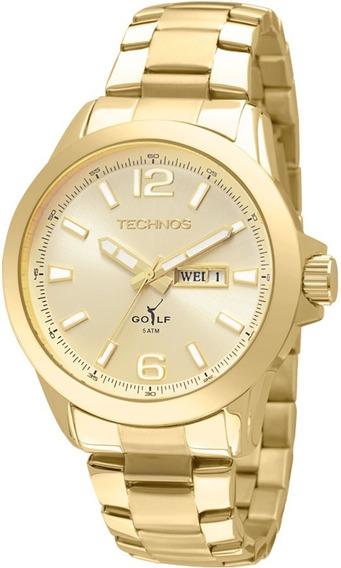 Relógio Technos Masculino Classic Golf 2105au/4x Dourado C/ Nfe