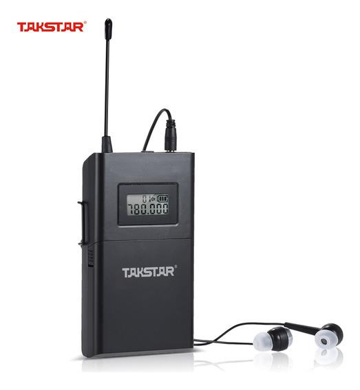 Takstar Wpm-200r - Receptor Uhf - Sistema De Áudio Sem Fio