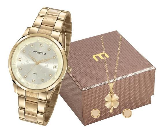 Kit Relógio Mondaine Feminino 53662lpmvde1k1