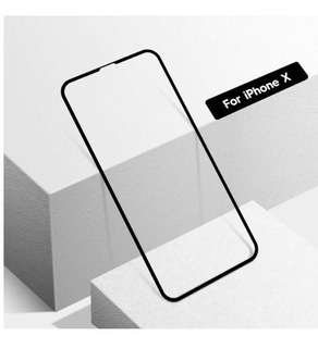 Película Vidro Full Glass Cover 5d 9h iPhone X - Preto