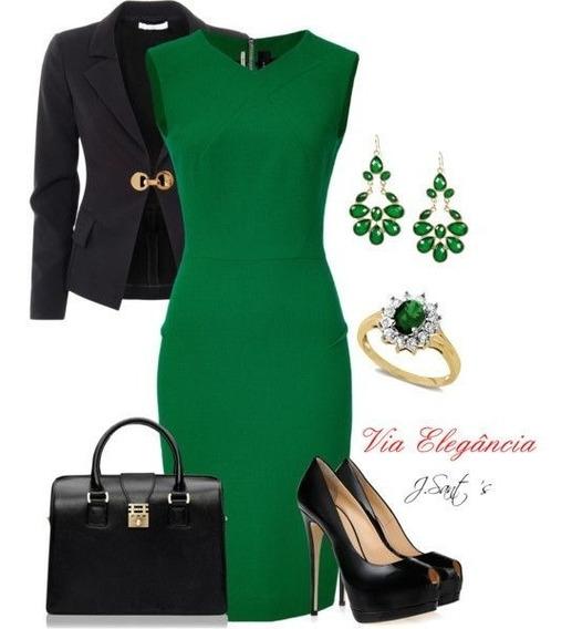 Vestido+blazer Evangelica E Executiva Elegante Cod#bli