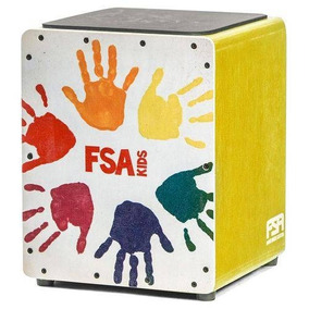 Cajon Infantil Fsa Kids Fk15 Amarelo