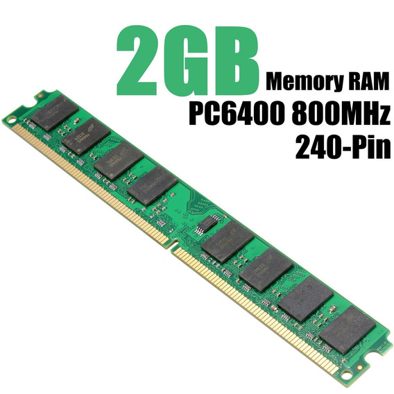 Memória Ram Desktop De 2gb Ddr2-800mhz Pc2-6400 240pin Dimm