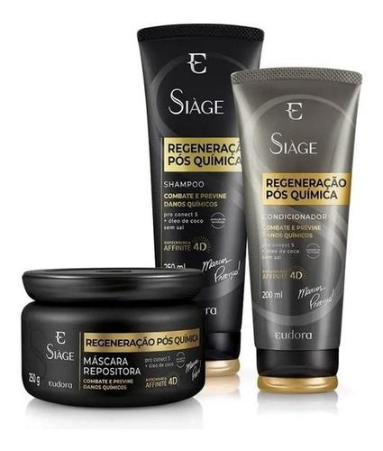 Siàge Expet Regeneração Shampoo + Cond + Máscara Eudora