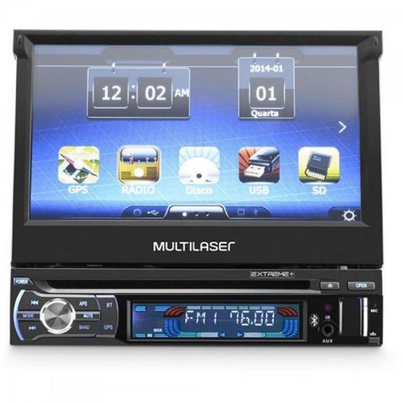 Dvd Gps Retratil 7 Bluetooth C Tv Digital Extreme Preto Mult