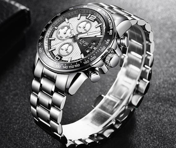 Relógio Lige Pulseira Inoxidável - Pronta Entrega!!!