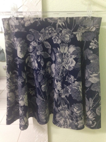 Saia Floral Azul - M