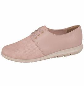 Zapato Básico Mujer Cómodos Agujetas Textura En Punta 179291