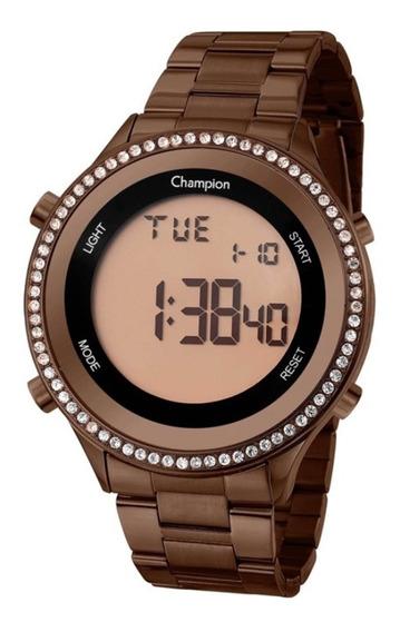 Relógio Feminino Champion Digital Ch40222r - Marrom