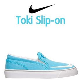 Tenis Nike Toki Slipon Originales 719745 Niñas Lona Canvas